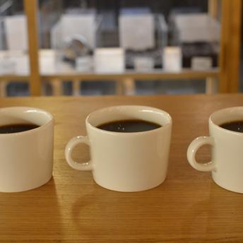 恒例のコーヒー焙煎後のカップテスト